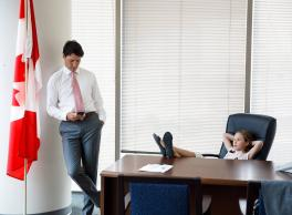Justin Trudeau - Prime Minister of Canada and Proud Father