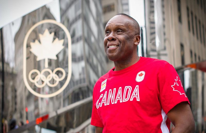 Bruny Surin In Team Canada Shirt