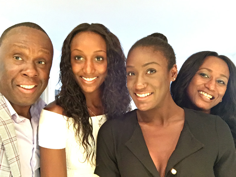Bruny Surin With Wife And 2 Daughters