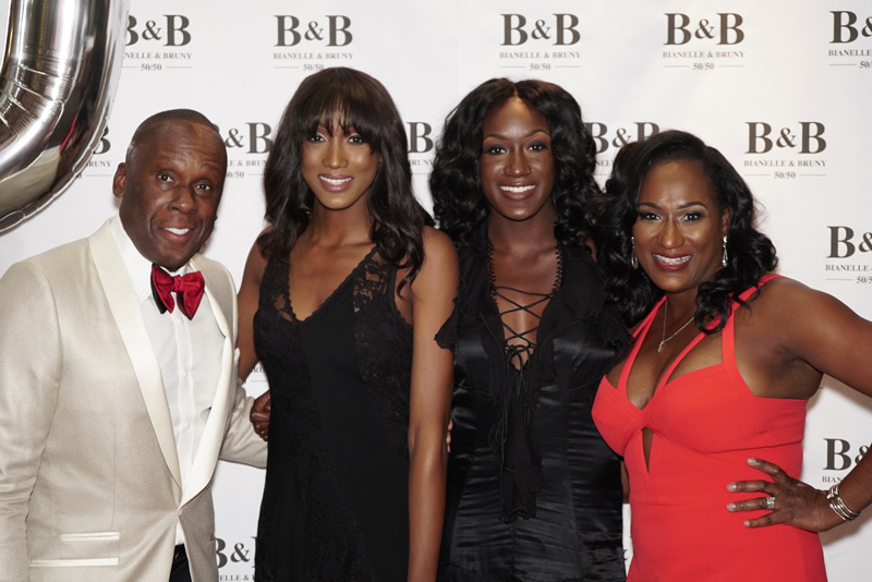 Bruny Surin With Family At Gala Reception