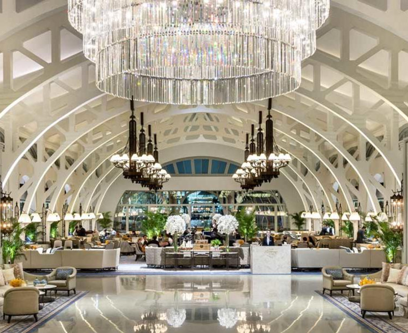 Main Lobby Of The Fullerton Bay Hotel Singapore