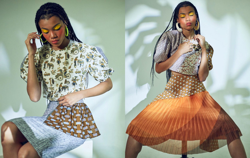 Stylish Young Asian Woman Posing Fashion Dress By Designer Ong Shunmugam