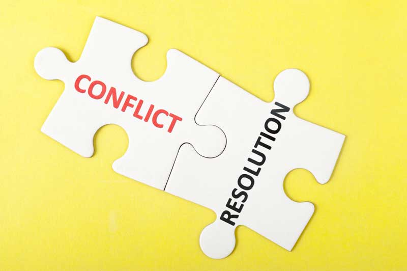 Words Conflict And Resolutions On Each Puzzle Piece