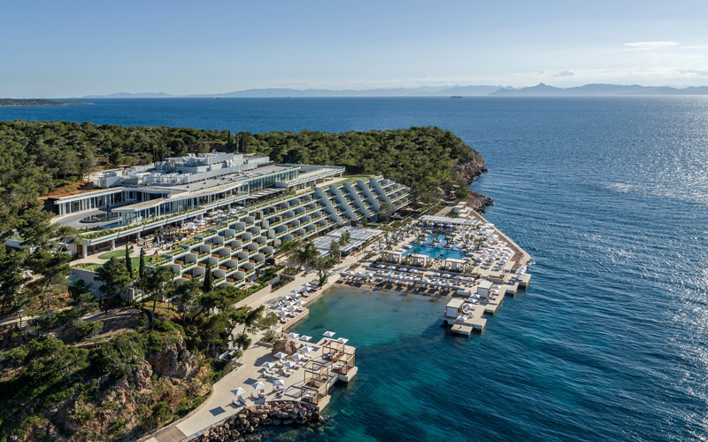 Aerial Overview of theFour Seasons Astir Palace Hotel -Nafsika building