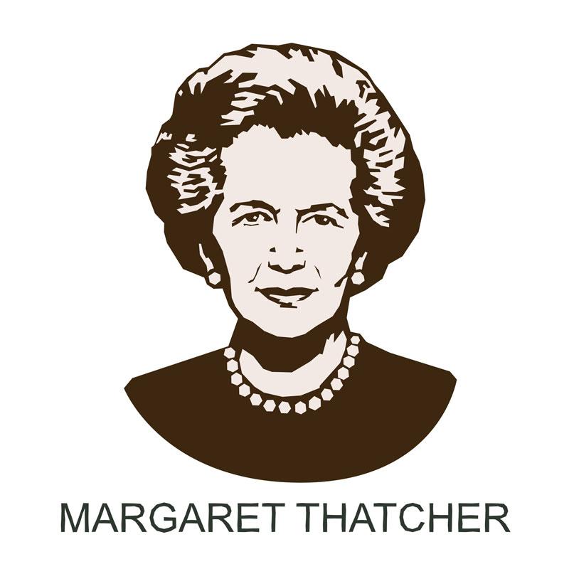 Illustration Of Margaret Thatcher Portrait