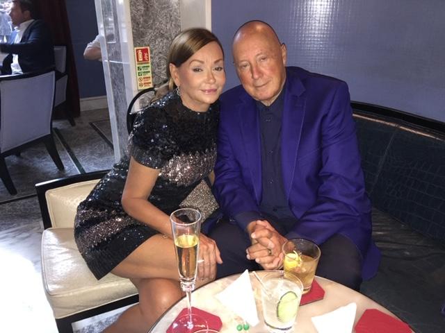 Frank Palmer Sitting At Restaurant With His Wife Marika Palmer