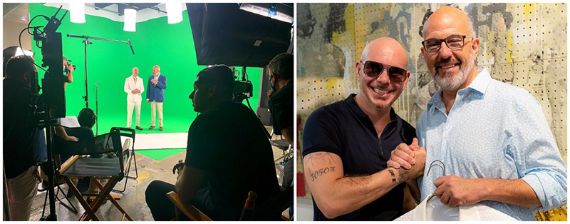 Jeff Hoffman With Pitbull