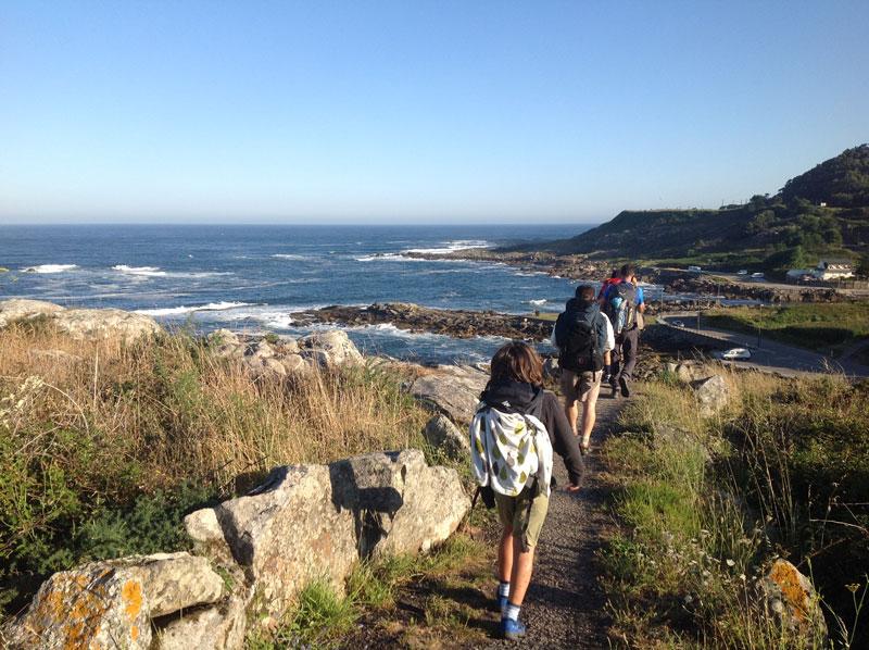 Walking Mentorship Program Kids Walking Overlooking Ocean