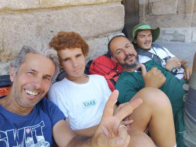 João Perre Viana And Nuno Santos Fernandes With Their Sons Posing For A Photo