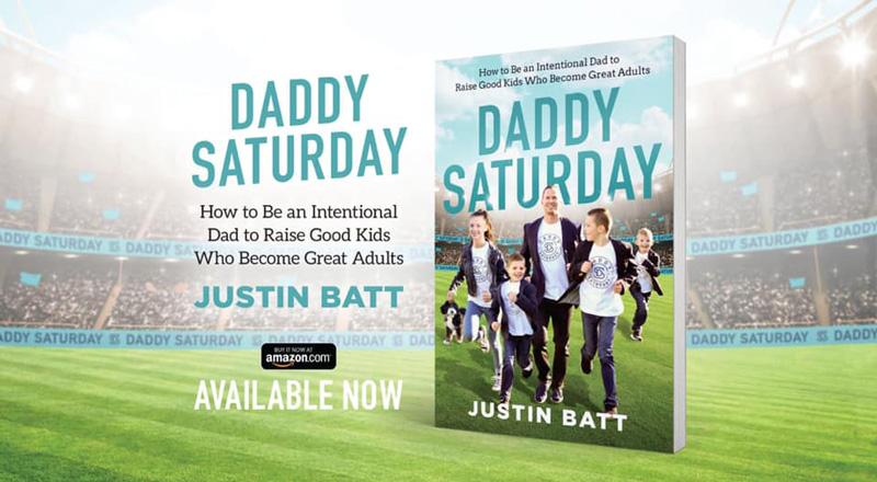 Justin Batt Daddy Saturday Book Cover Promotion Ad