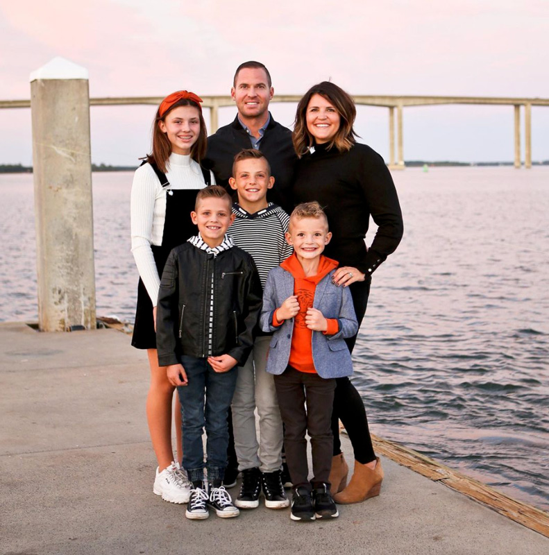 Justin Batt Family Photo By The Water