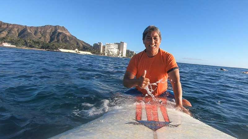 Guy Kawasaki On Surf Board In Hawaii