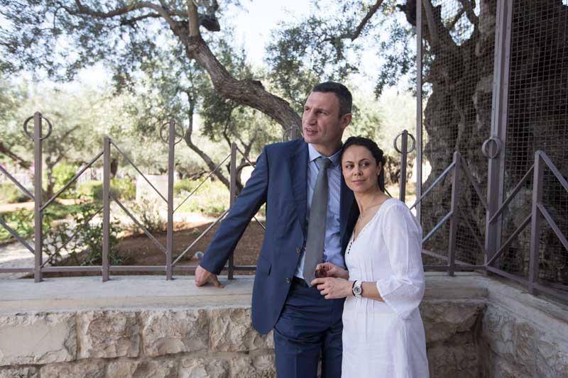 Vitali Klitschko And Wife Natalia While On Vacation In Israel