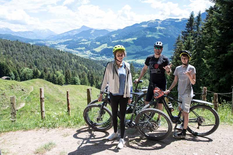 Vitali Klitschko Mountain Biking With His Children Overlooking Carpathian Mountains