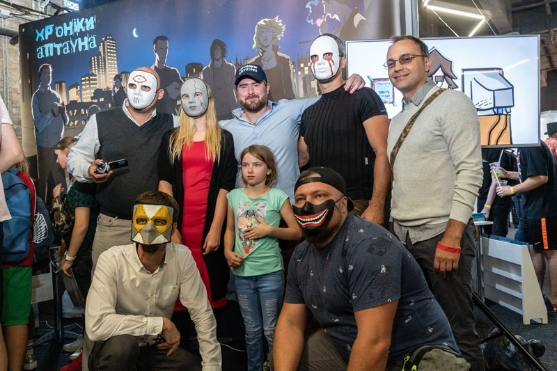 Mikhail Pimenov At Uptown Chronicles Comic Book Presentation At ComicCon Ukraine