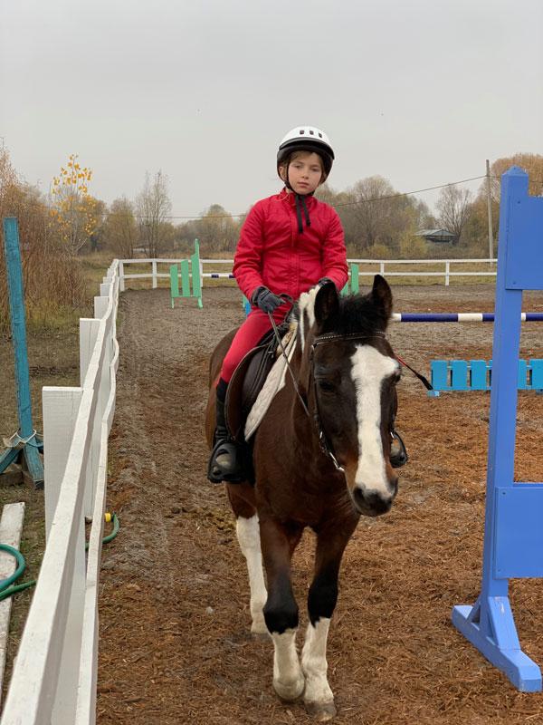 Mikhail Pimenov Youngest Daughter Zoya Horse Riding