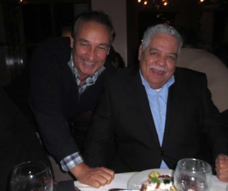 Oscar Munoz With His Father Eduardo Munoz