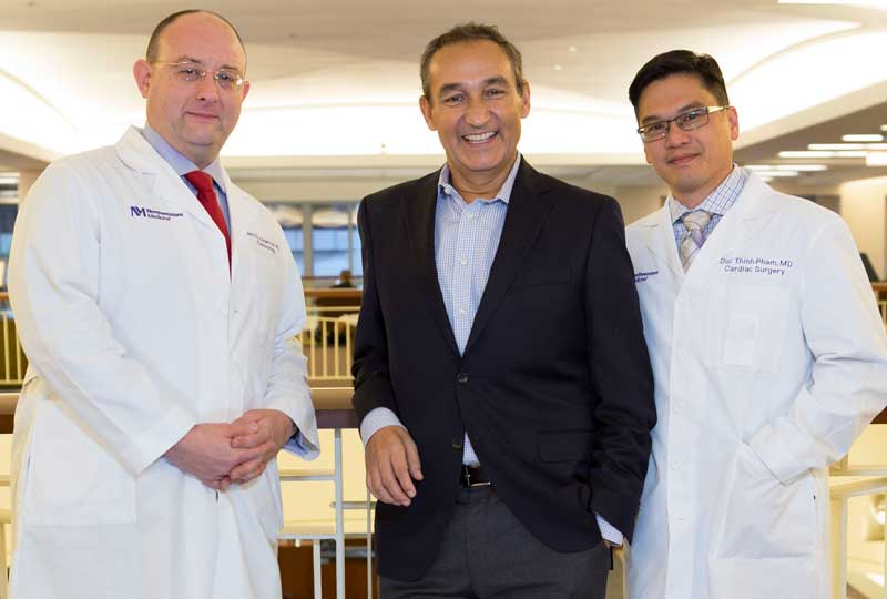Oscar Munoz With His Medical Team Just Days After His Heart Transplant