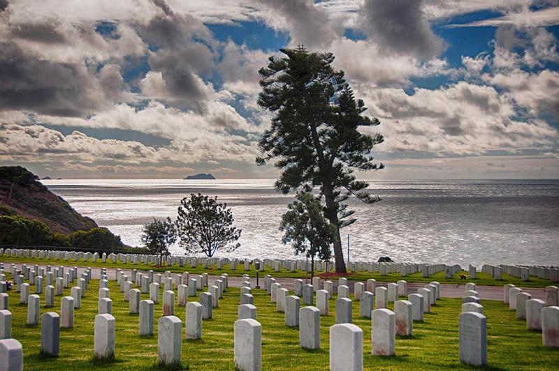 Fort Rosecrans National Cemetery Overlooking Pacific Ocean