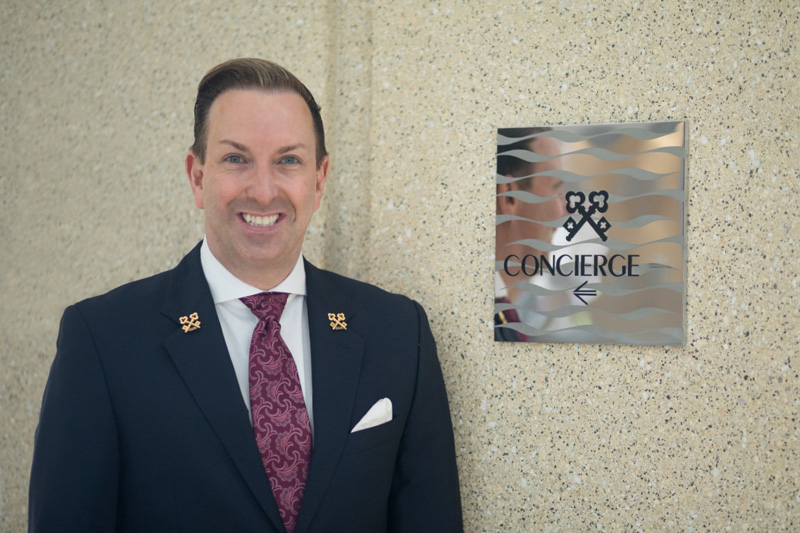 Concierge Robert Marks With Clefs D'Or International Sign