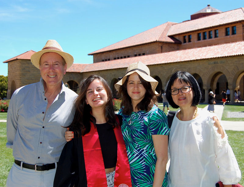Steven Fisher Posing For Photo With Family At Daughters Graduation