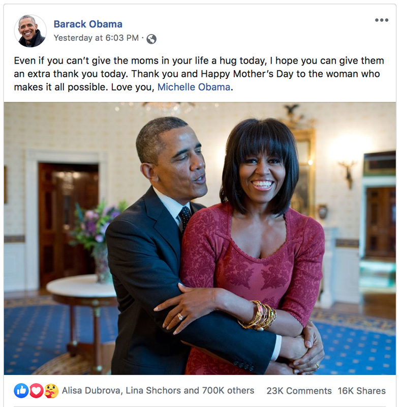 Barack Obama And Michelle Obama Holding Each Other And Smiling